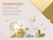 파워포인트 배경 (금융) 금빛저축