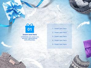 파워포인트 배경 (쇼핑) 겨울 패션 아이템