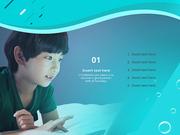 파워포인트 배경 (아동 )어린이와 상상