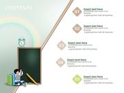 파워포인트 배경 (교육) 어린이 교육과 칠판