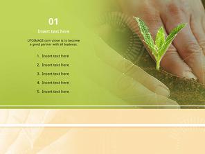 파워포인트 배경 (식물) 새싹