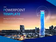 파워포인트 배경 (비즈니스) 첨단 고층 빌딩