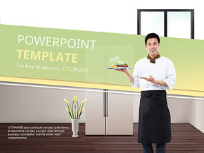 파워포인트 배경 (직업) 셰프와 냉장고