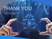 파워포인트 배경 (보안) 디지털 보안