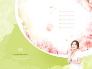 파워포인트 배경 (미용) 봄꽃과 여자