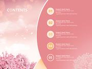 파워포인트 배경 (이벤트) 봄 꽃과 고백