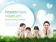 파워포인트 배경 (복지) 행복한 가정