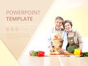 파워포인트 배경 (건강) 행복한 노후와 식습관