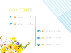 파워포인트 배경 (쇼핑) 봄 세일 소식