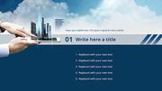 파워포인트 배경 (건축) 미래 도시 건설 - 와이드