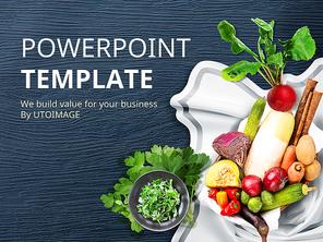 파워포인트 배경 (음식) 건강해지는 음식