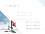 파워포인트 배경 (IT) 위성통신망