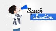 파워포인트 배경 (교육) 스피치 에듀케이션 - 와이드