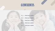 파워포인트 배경 (아동) 성장 클리닉 - 와이드