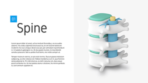 파워포인트 배경 (의료) 척추 클리닉 - 와이드