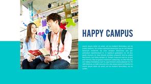 파워포인트 배경 (교육) 캠퍼스 라이프 - 와이드