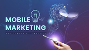 파워포인트 배경 (IT) 모바일 마케팅 - 와이드
