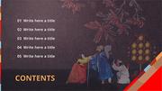 파워포인트 배경 (전통문화) 전통문화예술 - 와이드