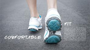 파워포인트 배경 (패션) 스포츠 운동화 - 와이드