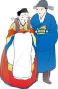 한국의 민화 인물 클립아트 226