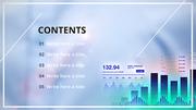 스마트한 금융 차트 (비즈니스) PPT 표지 - 와이드