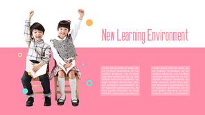 어린이 새학기 교육 presentation 템플릿