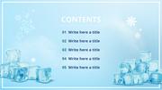 얼음축제 피피티 배경 - 와이드