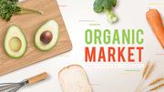 오가닉 마켓 (유기농) 파워포인트 배경 디자인 - 와이드