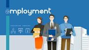 직장 Powerpoint 배경 (취업, 비즈니스, 회사) - 와이드