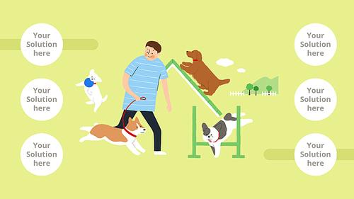 Life With a Pet (반려동물) 일러스트 템플릿