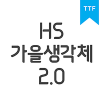 HS가을생각체2.0TTF