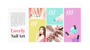 Nail art (뷰티, 미용) 파워포인트 디자인