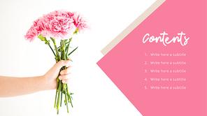 카네이션 (Flower) 피피티 배경 - 와이드