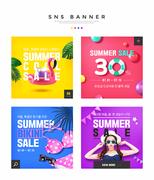 여름쇼핑 SNS 배너세트 001