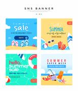 여름쇼핑 SNS 배너세트 009