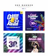 여름쇼핑 SNS 배너세트 011