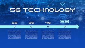5G 기술 (첨단, IT) 피피티 배경