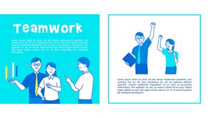 Teamwork (팀워크, 비즈니스) 피피티 템플릿