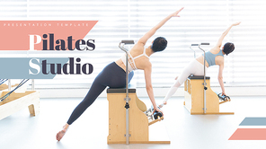 필라테스 Studio (운동, 헬스) 피피티 템플릿