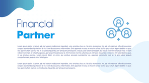 금융 파트너 (Financial) PPT 템플릿
