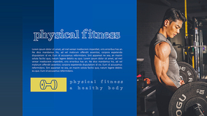 Physical  Fitness (운동, 헬스) PPT 표지