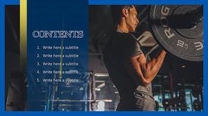 Physical  Fitness (운동, 헬스) PPT 표지