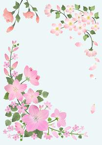 봄꽃프레임 001
