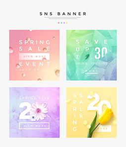 봄세일SNS배너템플릿 002