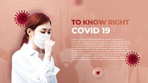 코로나 바이러스 바로 알기 (Covid 19) PPT 배경템플릿