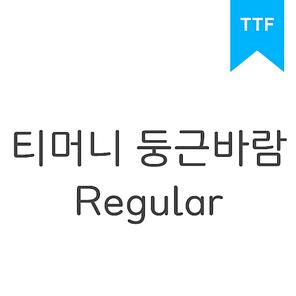 티머니 둥근바람 Regular TTF