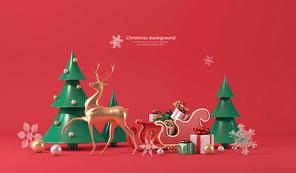 크리스마스 배경 004