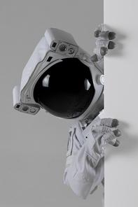 우주 생활 - 이벤트 배너를 빼꼼 보고있는 우주인