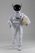 우주 생활 - 당일배송 택배상자를 들고 걷는 우주인