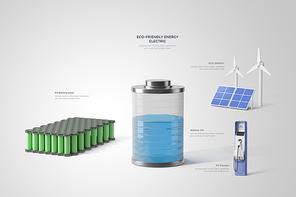 친환경 에너지 전기차 배터리